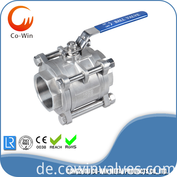 3 Piece type Ball Valves