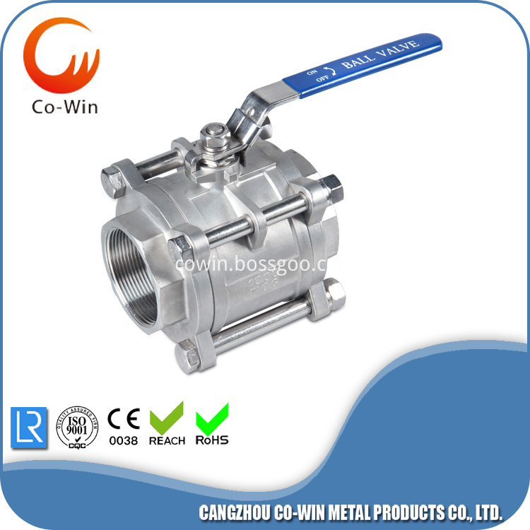 3PC-Threaded Ball Valve