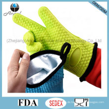 Kochgeschirr Backwerkzeug Silikon Warm Handschuh mit Baumwolle Sg29