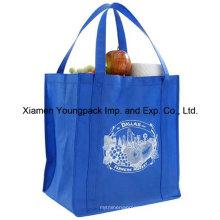 Extra grande bolso de supermercado reutilizable con mangos reforzados