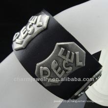 """Wide homens de couro genuíno bracelete bracelete para mulheres unissex homens se encaixa 7.5 """"a 8,5"""" BGL-002"""