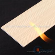 Hotsale diseño 50mm ignífugo persianas de madera falsa