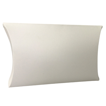 Atacado Custom White Kraft Paper Pillow Box