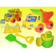 Brinquedos de praia de areia de plástico definido para as crianças de faixa de praia