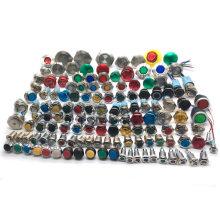 Bouton d'urgence électrique divers, bouton-poussoir en métal imperméable à l'eau