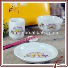 Modern design dinnerware for kid use
