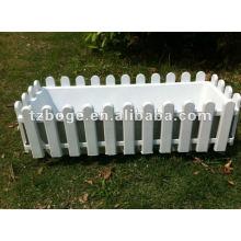 Fence plastic flower pot mould