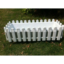 Забор пластиковый цветочный горшок плесень