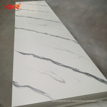 Aurora White Pure Acrylic Modified Solid Surface Sheets Decorative Artificial Stone Slabs for Countertop