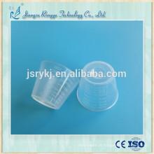 Copo descartável de medição de plástico para medicamentos