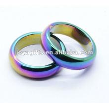 8mm Regenbogen Magnetischer Hämatit gewölbter Ring