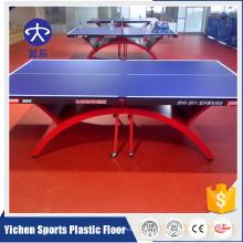 Suelo de plástico insonorizado para uso en interiores y tenis de mesa