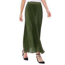 """Kate Kasin Mujeres Vintage Retro Vintage Verano Verde Pleated Maxi Falda Larga 40 """"KK000614-4"""