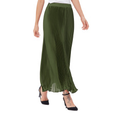 "Kate Kasin Women's Retro Vintage Army Green Summer Pleated Maxi Long Skirt 40"" KK000614-4"
