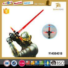 Telescopic laser light sword with sound