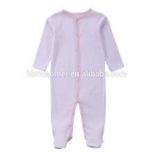 2017 nouvelle arrivée bébé hiver bodys pour bambin à manches longues à capuchon couleur rose rayé plaine bébé barboteuse pour l'escalade