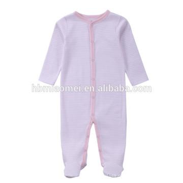 2017 nuevos monos del bebé de la llegada llegada para el mameluco rayado llano rayado del bebé del color rosa con capucha del niño largo para escalar