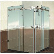 Sistema de puerta corredera de cristal de 180 degrss para baño