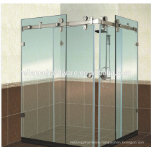 180 degrss glass sliding door system for shower room