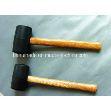 12oz Rubber Mallet Rubber Hammer with Wooden Handle