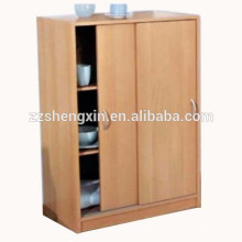 Cabinet Storage Shelf Wood Sliding Door Cupboard