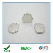 spéciale forme demi plate rond aimants