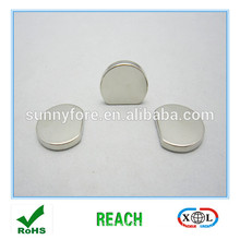 special shape half flat round magnets