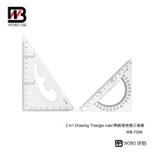 2 PC in 1 Office Stationery Triangular Plastic Ruler