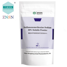 Compuesto ZNSN Sulfadimetoxina en polvo soluble en sodio