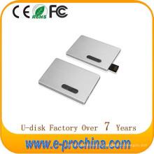 USB feito sob encomenda quente do cartão de crédito USB da movimentação do flash do metal do logotipo