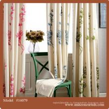 Хлопчатобумажная льняная ткань готова Королевские шторы покрывают дешевые свадебные декоры готовые шторы