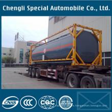 Remolque del tanque del envase químico 40000liter del envase 40FT