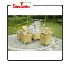 meubles extérieurs de restaurant d'osier de rotin, meubles extérieurs de rotin de luxe, meubles de jardin de rotin