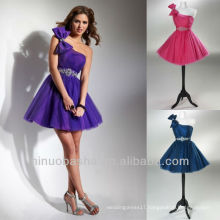 Peacock Blue A Line Bow Crystal Waistband Mini Graduation Dresses Homecoming Gowns