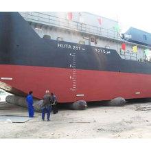 navio que lança o airbag de borracha do crv do airbag d = 1.2m L = airbag intensivo de 15m