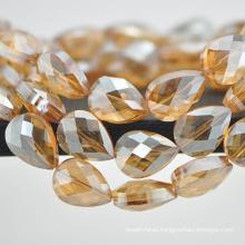 Drop shape glass bead for lamp shade