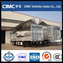 Cimc 3 Axle Wing Side Wall Caja abierta remolque