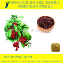 tratamiento de ingredientes de alimentos y bebidas de la hepatitis extracto de bayas schisandra en polvo de color amarillo-blanco