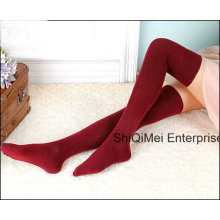 Mode Dame Mädchen Baumwolle heißer Verkauf kniehohe lange Socken Sexy Strümpfe