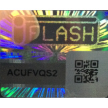 QR Code Holographic Security Label Sticker
