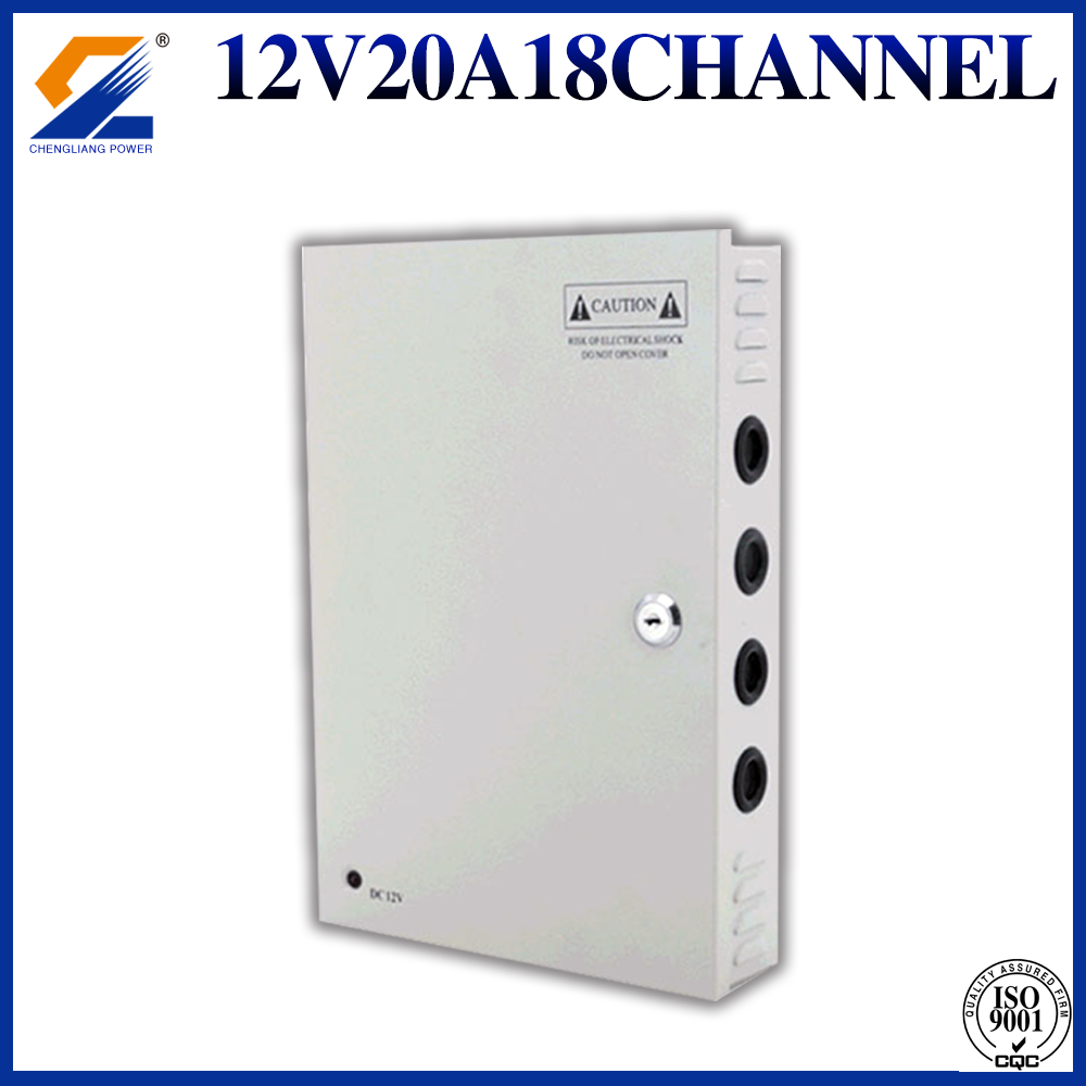 12V20A18CH cctv power supply