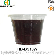 10oz Disposable Plastic Cup with Lid for Smoothie