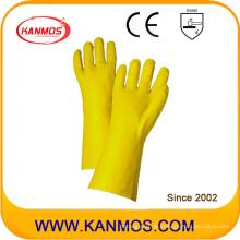 Gelbe PVC getauchte industrielle Handsicherheit Gauntlet Arbeitshandschuhe (51207)