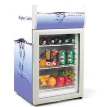 desk top mini fridge electric mini cooler fridge with glass door