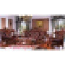 Ensemble de sofa en cuir en bois pour les meubles de salon (531A)