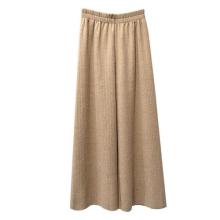 Nouveau pantalon évasé tricoté à la mode en gros