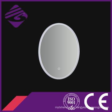 Espejo retroiluminado del cuarto de baño de la pantalla táctil del marco LED del PVC