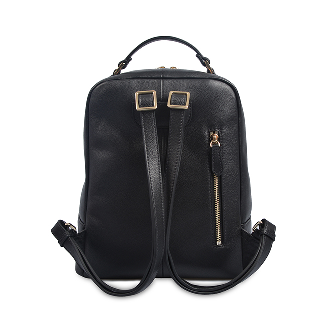 black luxury handmade custom logo women mens genuine leather backpack
