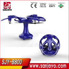 Newest Foldable Drone Unique Shape Flying Egg RC Quadcopter With Wifi FPV 0.3MP Camera 360 Angle Rotation Altitude Hold SJY-B800