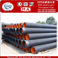 Tubo corrugado de pared doble de polietileno de alta calidad